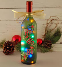 ho ho ho wine bottle light a reclaimed wine bottle was repurposed