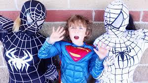 white spiderman u0026 superman vs black spiderman real life