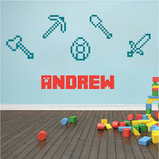 Minecraft Tools Wall Decals Minecraft Tools Wall Designs - Wall design decals