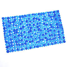 Pebble Bath Rug Slipx Solutions 17 In X 30 In Pebble Bath Mat In Blue 06712 1
