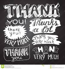 thank you card with chalkboard background stock vector image