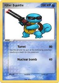 pokemon squirtle coloring pages pokémon killer squirtle turret my pokemon card