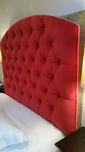 Wall Mounted Headboard Queen Tufted Upholstered Pink Red Velvet Custom Wall Mounted