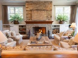 Decorating Family Room With Fireplace And Tv - inviting living room in lake tahoe retreat linda mccall hgtv