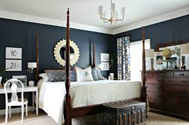 dark blue bedroom color schemes home interior design intended for