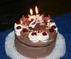 birthday cake with candles shaped 24 photo free download