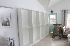 how to built in bookcases the easy way with ikea billy bookshelves