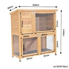 Rabbit Hutch With Large Run Deluxe Large Rabbit Guinea Pig Double Hutch With Under Run