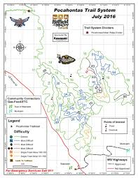 West Virginia State Parks Map by Pocahontas Atv Trail System Maplets