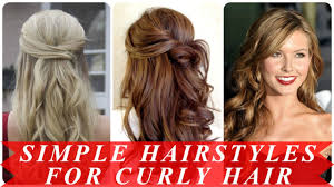 simple prom hairstyles for curly hair youtube