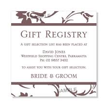wedding registry templates gift registry wording for wedding invitations paperinvite