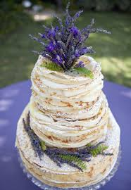 wedding cake lavender cake a lavender wedding cake stack of crepes the