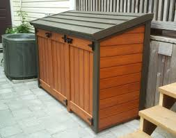 outdoor garbage can storage bins trash ideas 26 simple sheds
