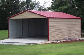 Garage With Carport Metal Buildings Wholesale Rv Carports Newdealmetalbuildings Com