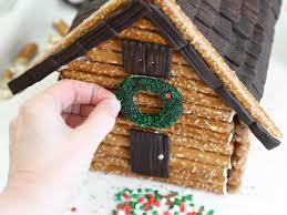 make a log cabin gingerbread house hgtv