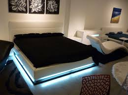 platform bed with led lights contemporary bedroom lorezo platform bed lights dma homes 16127