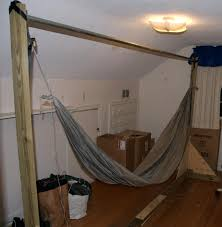 Hammock Frame Furniture Scenic Striped Lowes Hammock With Oak Wood Frame And