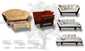 canap futon cinius canapé lit futon modèle sole structure en bois de sapin