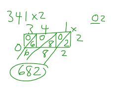 showme lattice multiplication 3 digit by 1 digit