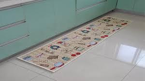 custom kitchen floor mats design above glossy white ceramic floor