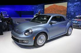 volkswagen beetle blue volkswagen beetle puts on denim suit for special edition model
