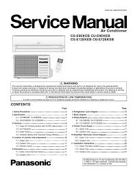 servicemanual panasonic air conditioning hvac