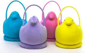 peeps easter basket plush peeps bunnies and for easter