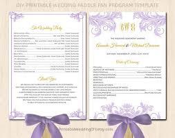 Diy Wedding Programs Printable Wedding Program Templates