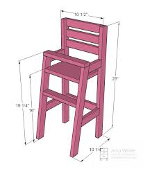 Free Miniature Dollhouse Furniture Plans by Best 25 Doll High Chair Ideas On Pinterest Baby Chair Baby