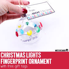 lights fingerprint ornament with free gift tags miss