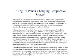 kung fu panda changing perspective speech action comedy
