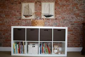 garage shelves designs shelving industrial design wall mounted ikea expedit bookcase meets target itso bin