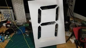 membuat jam digital led besar how to make a big seven segment duwi arsana