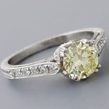 fancy yellow diamond engagement rings antique edwardian engagement ring