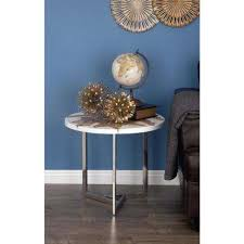 Teal Accent Table Round White End Tables Accent Tables The Home Depot