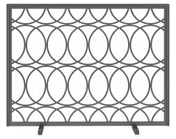 decora circles fireplace screen contemporary traditional