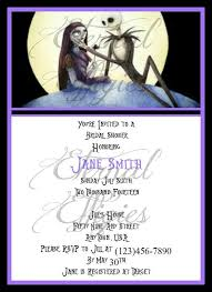 nightmare before christmas wedding invitations design classic skellington invitations free printables with