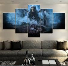 modular 5 panel avenged sevenfold band painting abstract art wall