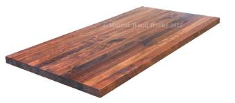 decor walnut butcher block table with steel legs for home