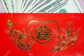 luck envelopes ang pao a envelope with words and lucky sign contains