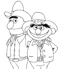 sesame street coloring book pages