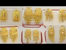 gold earrings for women stud earrings for women in 22k gold
