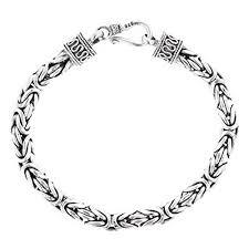 handmade chain bracelet images Length 9 5mm bold mens round byzantine handmade 925 sterling jpg