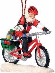 mountain bike santa ornament ornaments