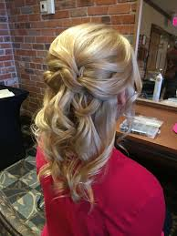 bridesmaid hairstyles for medium length hair mother of the bride hair half up half down medium length