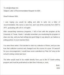 ideas of requesting a recommendation letter for graduate