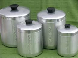 metal kitchen canister sets antique kitchen canisters photo of vintage spun aluminum canister