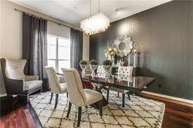 dining room design ideas deco dining room with high ceiling chandelier in dallas tx