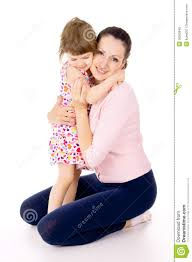 Small Beautiful Pics Mom Hugging With A Small Beautiful Child Royalty Free Stock Photo
