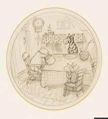 original 1928 illustration of pooh christopher robin and piglet